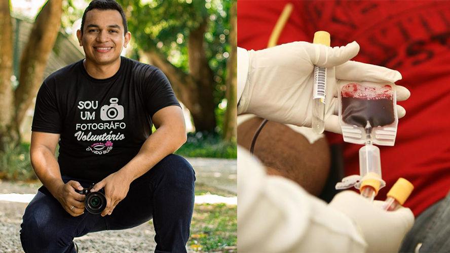 Imagem ilustrativa da notícia: Fotógrafo paraense troca doação de sangue por ensaio fotográfico