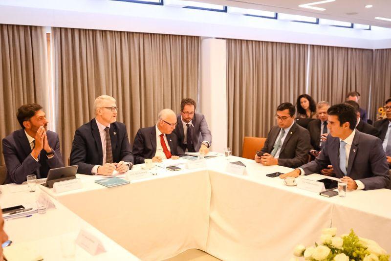 Imagem ilustrativa da notícia: Helder Barbalho discute investimentos na Amazônia com embaixadores da Europa