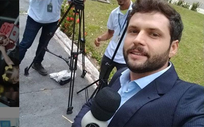O repórter da RecordTV compartilhou a condição com os fãs pelo Instagram