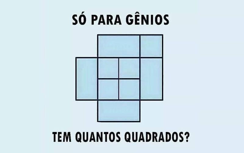 Imagem ilustrativa da notícia: Desafie sua mente e diga quantos quadrados tem aqui