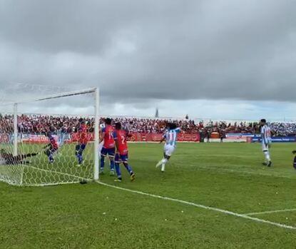 Comemoração do primeiro gol bicolor