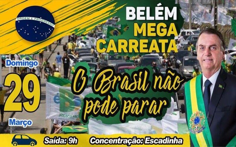 Imagem ilustrativa da notícia: Coronavírus: Polícia Civil identifica organizadores de evento bolsonarista em Belém