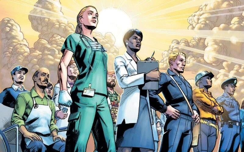 Imagem ilustrativa da notícia: Marvel transforma trabalhadores essenciais em super-heróis em desenho