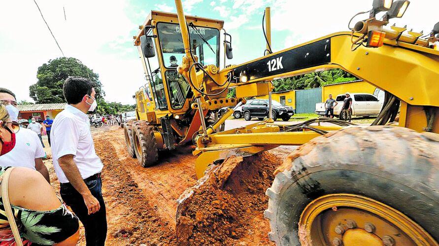Governador acompanhou o início dos trabalhos no trecho entre Santa Izabel do Pará e Bujaru