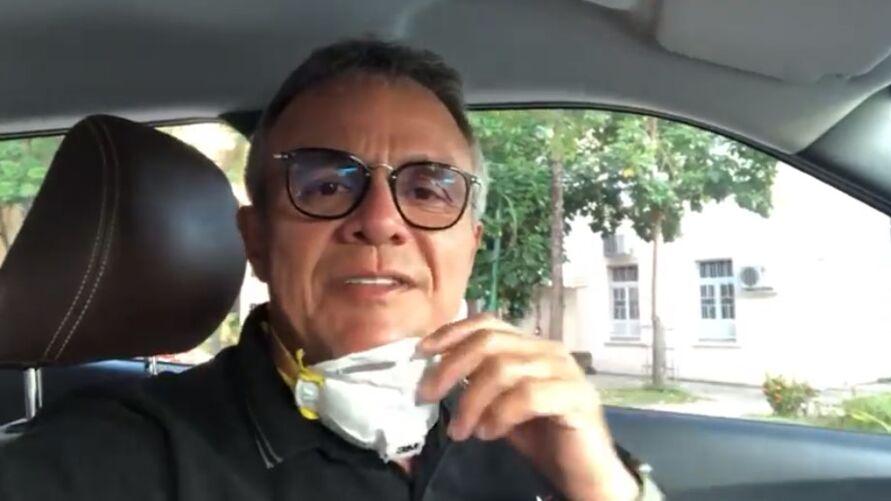 """Com a repercussão negativa, o prefeito decidiu divulgar um vídeo """"explicando"""" onde ele estava."""