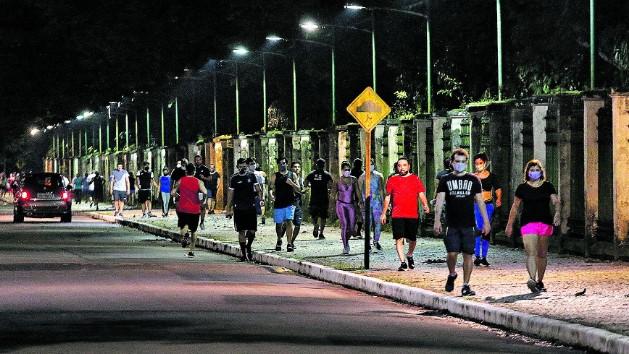 Decreto municipal liberou caminhadas desde a última sexta-feira (19)
