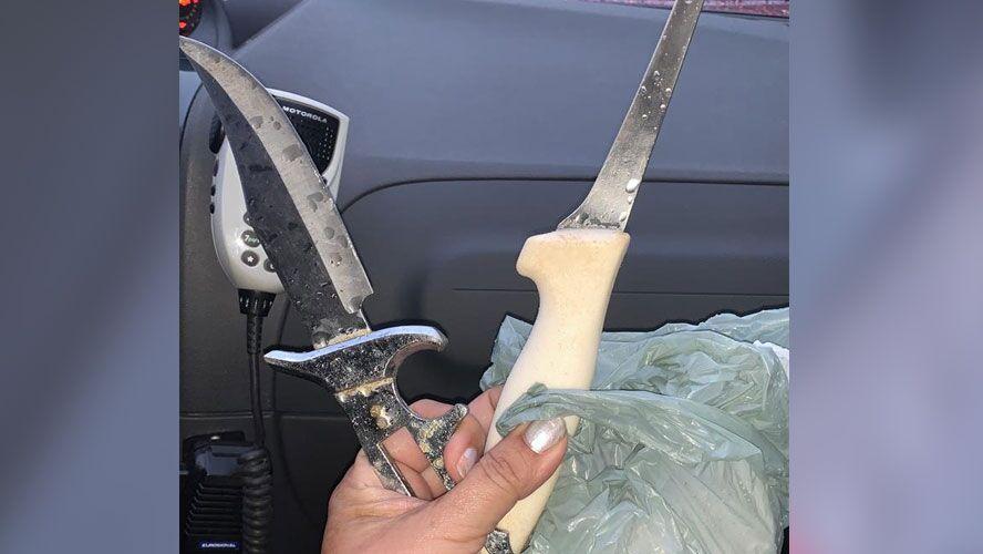 Arma usada pelo acusado para cometer o crime.