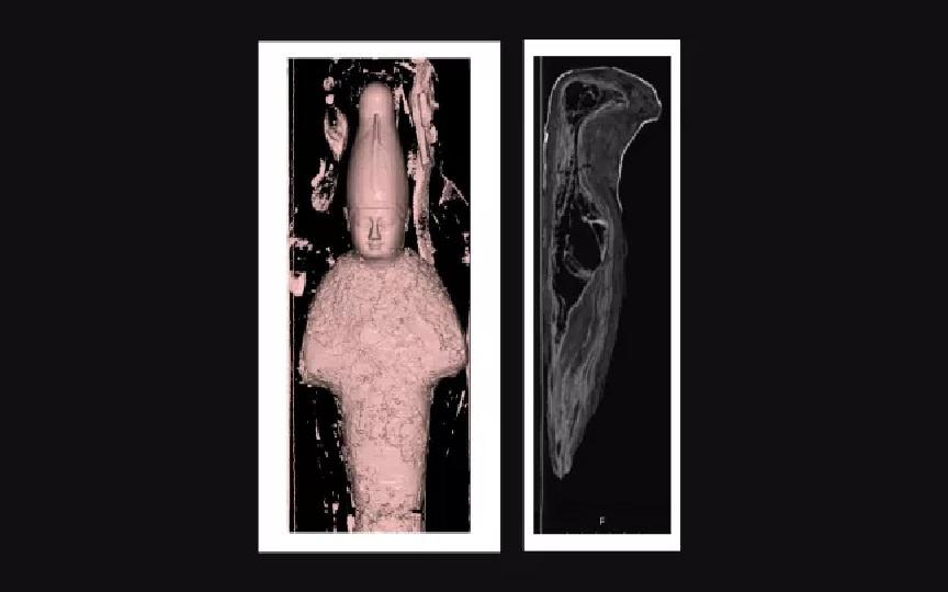 Imagem ilustrativa da notícia: Tomografia revela que duas múmias egípciasnão são humanas