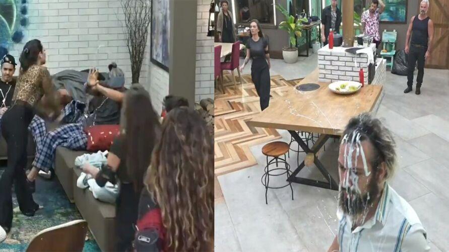 Imagem ilustrativa da notícia: Raissa atira creme, Jojo dá martelada e Juliano enlouquece; veja o vídeo