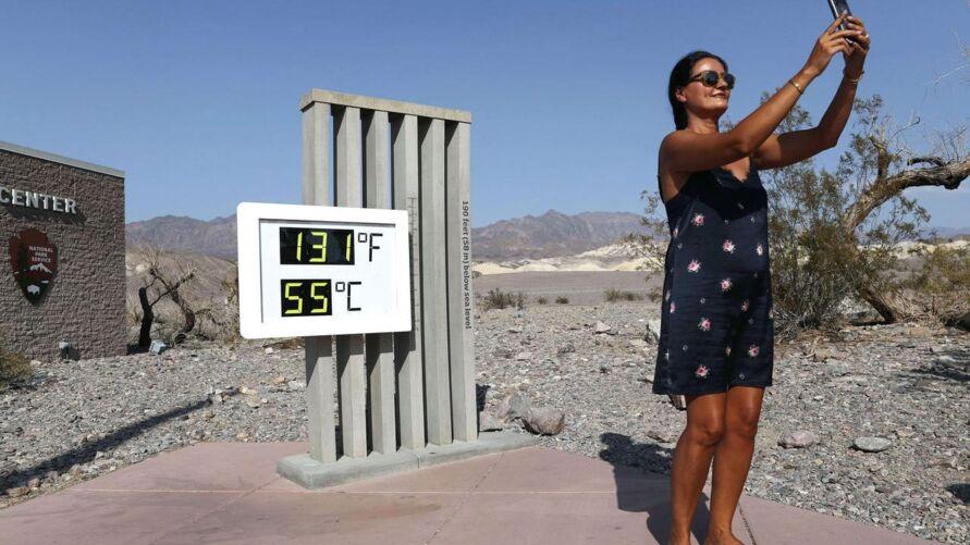 A temperatura no local passa dos 50ºC