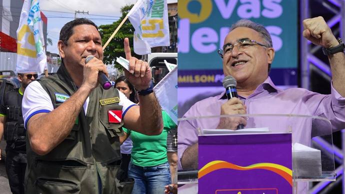 Delegado Eguchi e Edmilson Rodrigues irão disputar a prefeitura de Belém.