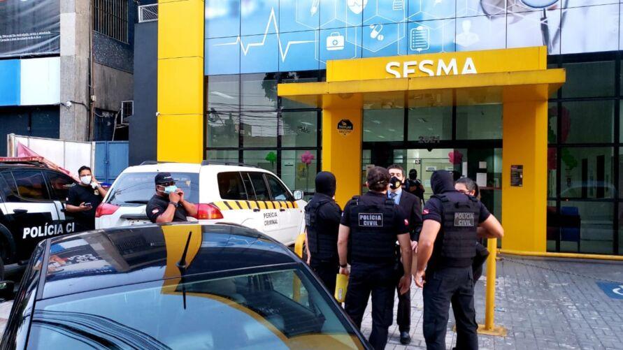 Imagem ilustrativa da notícia: Justiça ordena e Polícia faz busca e apreensão na Sesma por desvios de recursos no combate à pandemia