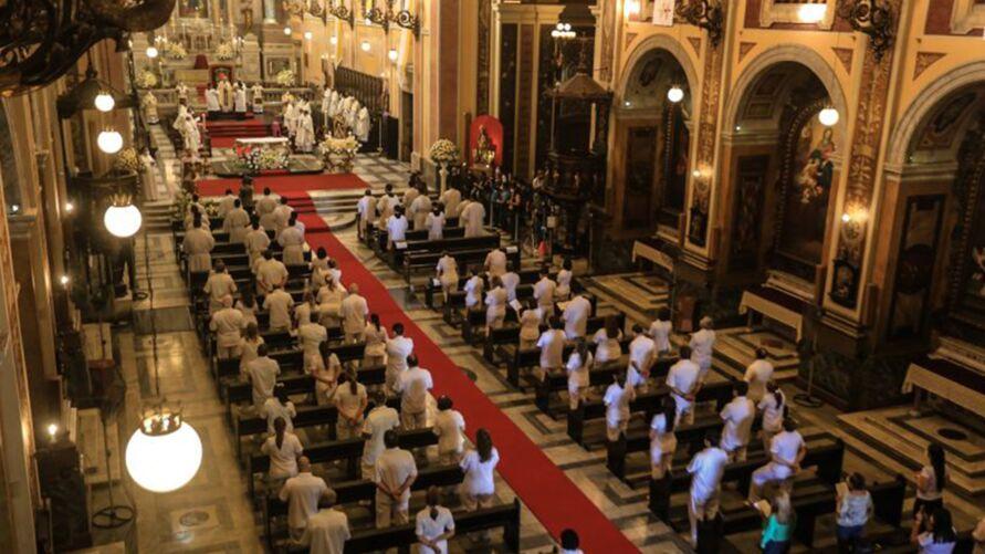 Catedral é a chamada Igreja-Mãe de Belém, dedicada à Nossa Senhora da Graça e finalizada pelo arquiteto italiano Antonio José Landi