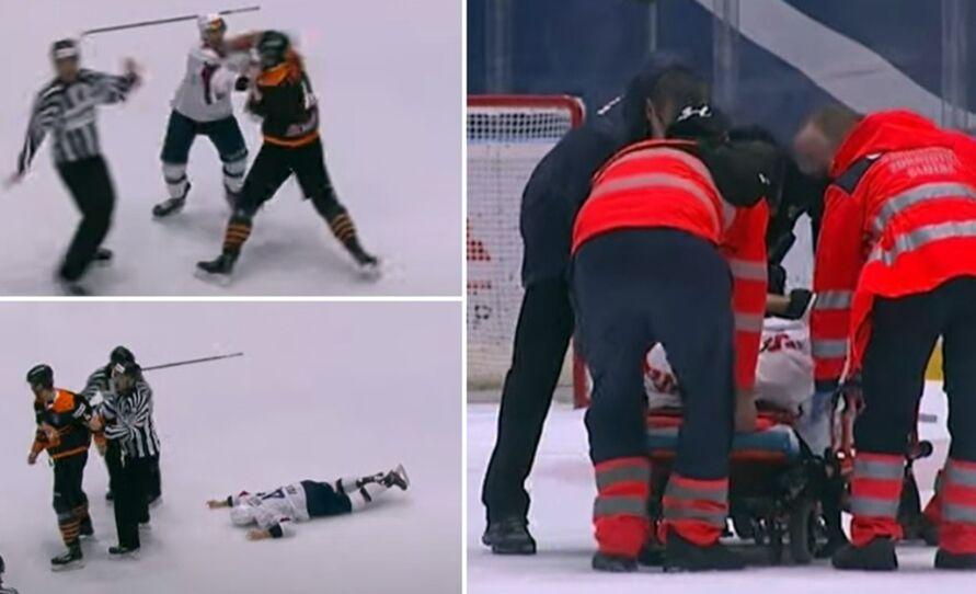 Imagem ilustrativa da notícia: Vídeo chocante: atleta leva soco e perde os movimentos após cair
