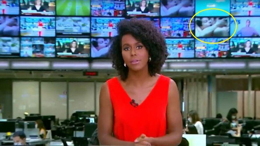 Imagem ilustrativa da notícia: Maju Coutinho apresenta jornal com cena de sexo ao fundo