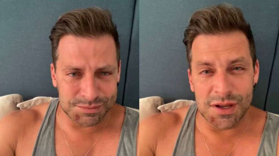 Henri Castelli com o rosto desfigurado nas redes sociais