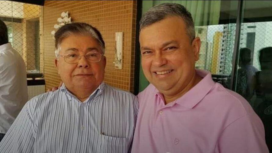 Orimar Rodrigues ao lado do pai, Osmar Rodrigues, um dos sócios do Grupo Líder.