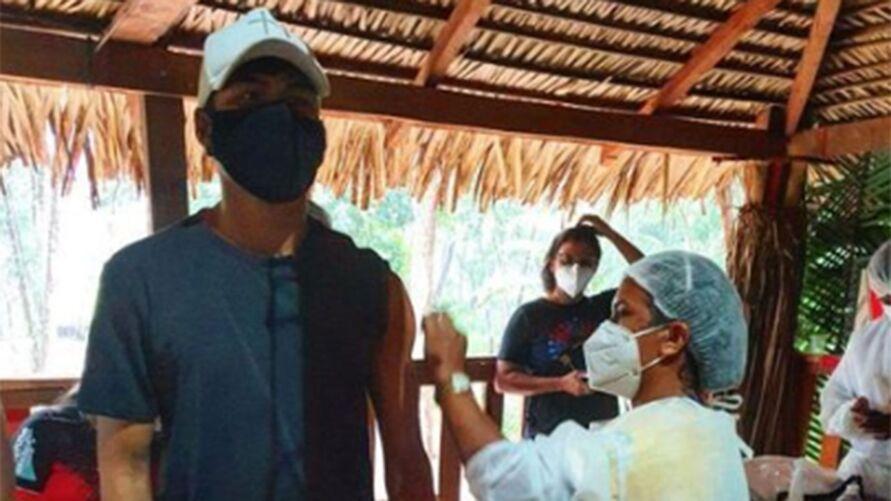 Imagem ilustrativa da notícia: Jogadores indígenas paraenses tomam vacina contra a covid-19
