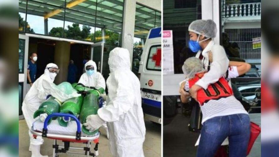 Pacientes estão morrendo asfixiados por falta de oxigênio em hospitais de Manaus.