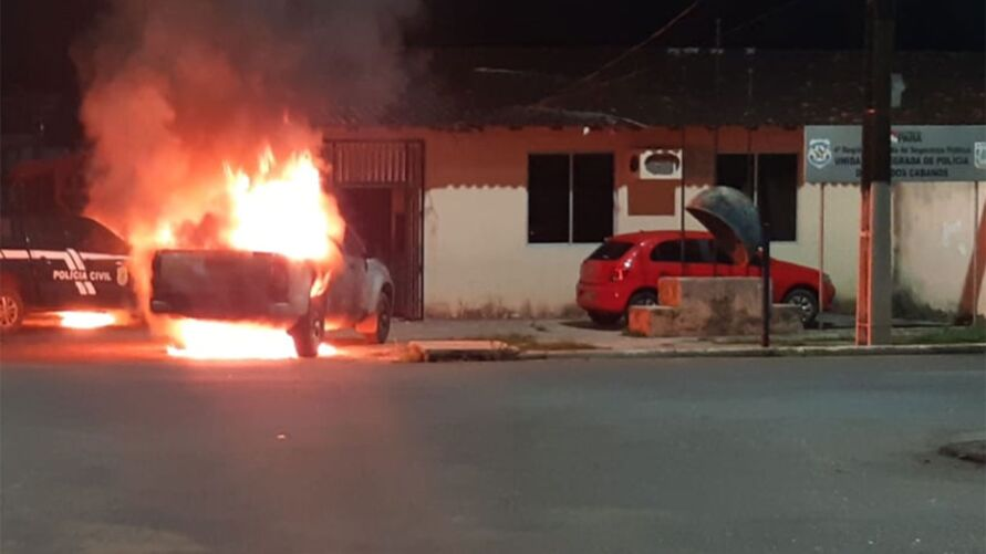 Imagem ilustrativa da notícia: Acusado de incendiar viaturas no Pará é identificado