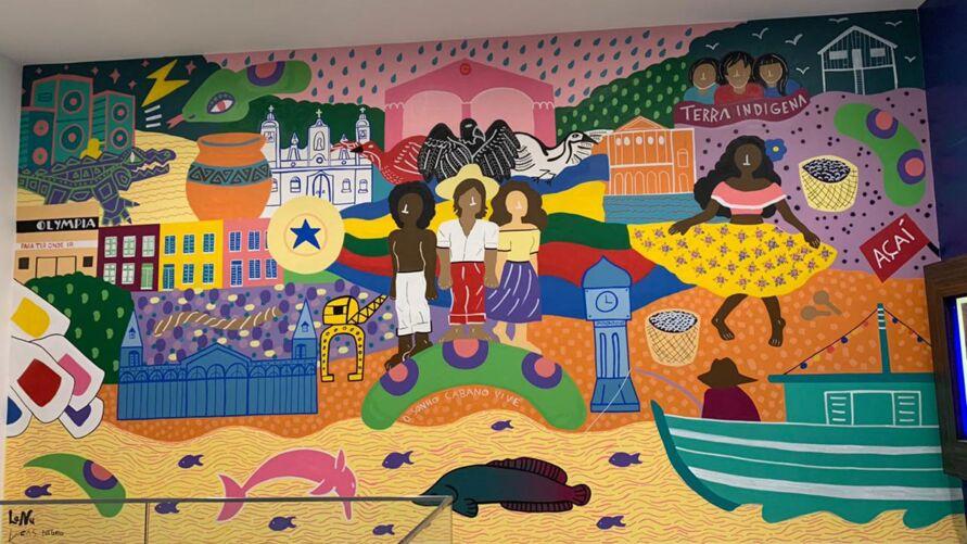 Imagem ilustrativa da notícia: Pintura Iconográfica homenageia Belém com exposição de traços culturais