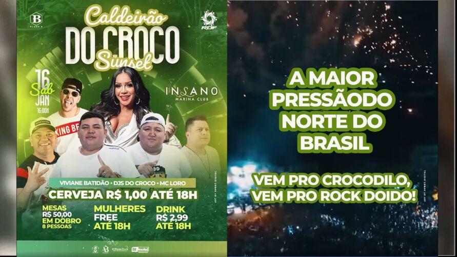 Organizadores anunciam festa com entrada livre de mulheres e bebida alcoólica a apenas R$ 1.