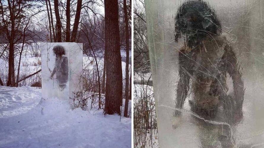 Imagem ilustrativa da notícia: 'Homem das cavernas' é encontrado preso em bloco de gelo, veja!