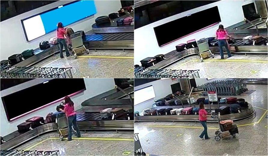 Imagem ilustrativa da notícia: Mulher é presa enquanto roubava bagagens em aeroporto