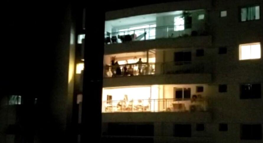 Cena foi gravada em edifício no bairro de Batista Campos
