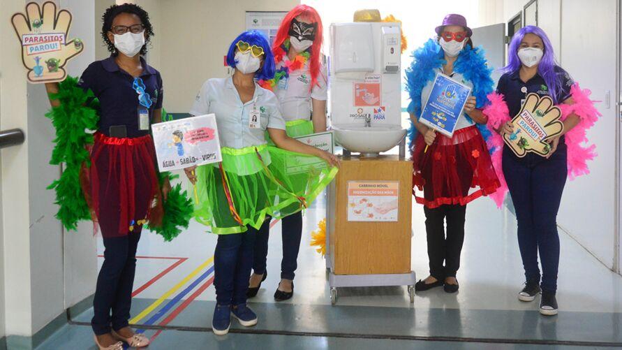 Imagem ilustrativa da notícia: Ação de hospital no Pará leva orientações sobre higienização das mãos e uso correto da máscara
