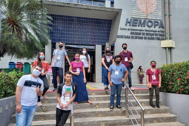 Calouros do curso de Biomedicina, da Universidade Estadual do Pará, marcaram presença entre os doadores neste final de semana