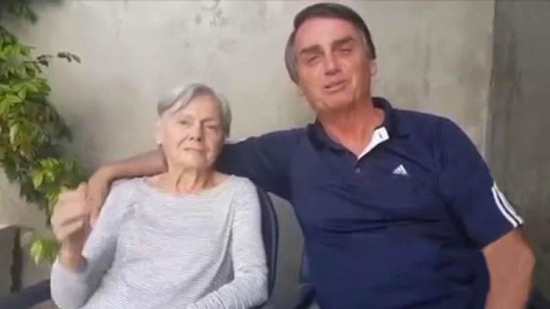 Imagem ilustrativa da notícia: Bolsonaro nega que a mãe tenha sido vacinada com Coronavac