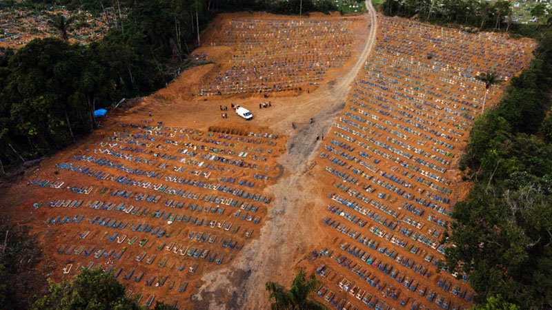 Imagem ilustrativa da notícia: Brasil registra mais de 1.700 mortes em 24 h e bate novo recorde diário
