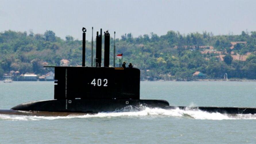 Imagem do KRI Nanggala-402 disponibilizada pela Marinha indonésia INDONESIAN NAVY/EPA