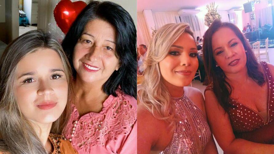 Paloma e Luiza se derretem de amor pelas suas mamães