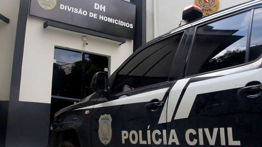 Suspeitos foram encaminhados para a Divisão de Homicídios, da Polícia Civil, onde foram ouvidos.
