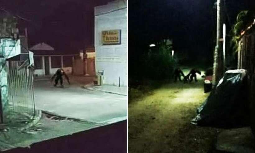 Imagem ilustrativa da notícia: Visagem? Moradores flagram 'monstro do lockdown' nas ruas