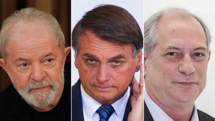 Imagem ilustrativa da notícia: Pesquisa aponta que Lula e Ciro venceriam Bolsonaro no segundo turno