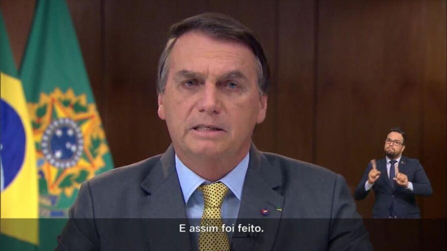 Imagem ilustrativa da notícia: Veja as mentiras de Bolsonaro durante pronunciamento