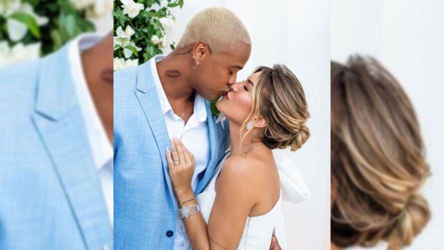 """""""Que Deus abençoe nossa união! Te amo, @loreimprota"""", escreveu o noivo"""