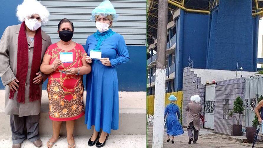 Imagem ilustrativa da notícia: 'Dr. Chapatin' e 'Bruxa do 71' se vacinam na Aldeia Cabana