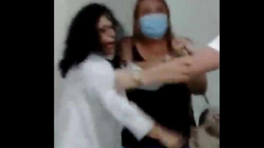 Imagem ilustrativa da notícia: Após discussão, médica agride mulher em hospital; veja o vídeo