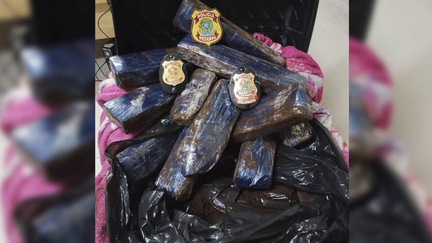 Droga foi encontrada dentro da mala no Aeroporto Internacional de Belém