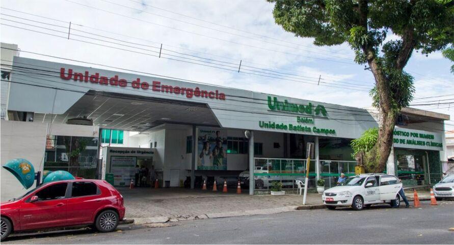 Pacientes relatam cenas de horror na Unimed Batista Campos e Doca.