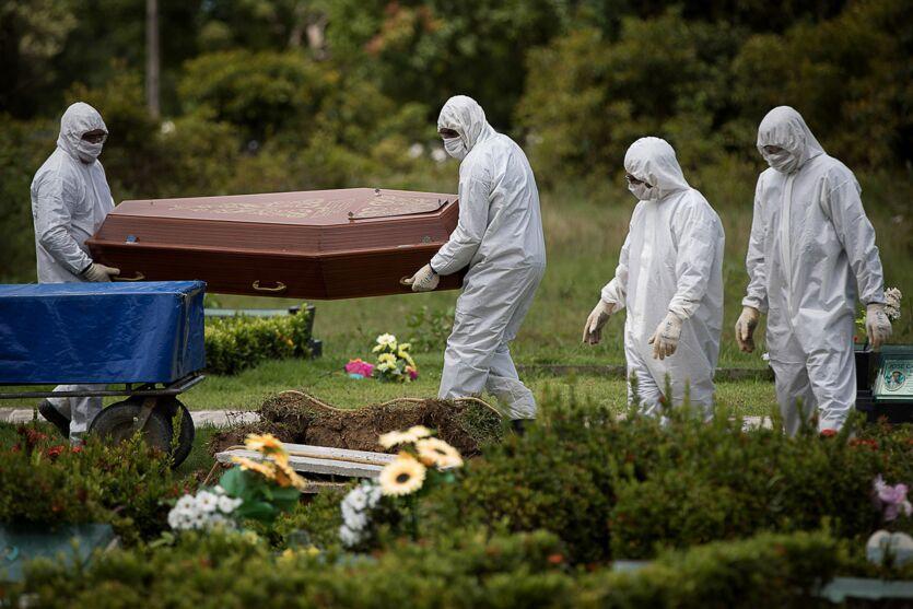 Imagem ilustrativa da notícia: Brasil registra aumento de 11% em mortes por covid-19 em uma semana
