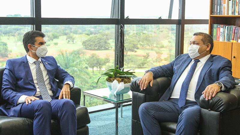 Helder Barbalho se reuniu com o ministro Kássio Nunes Marques, relaror da matériaHelder Barbalho se reuniu com o ministro Kássio Nunes Marques, relator da matéria