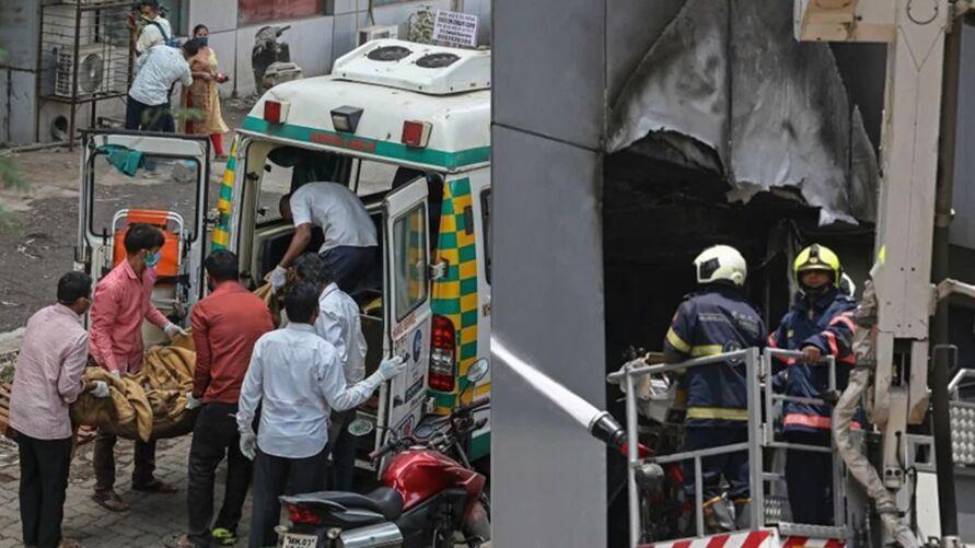 Imagem ilustrativa da notícia: Incêndio em hospital que tratava Covid-19 deixa 10 mortos