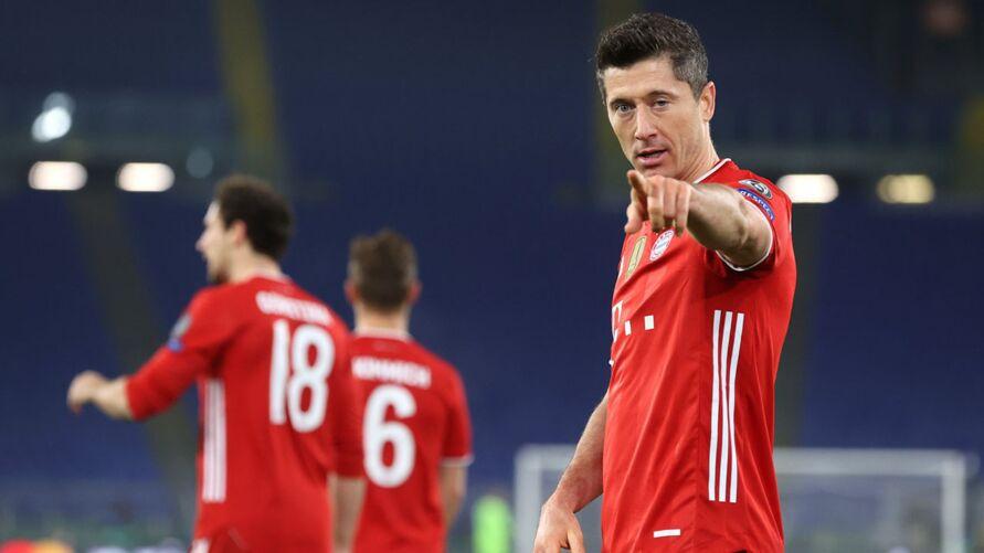 Imagem ilustrativa da notícia: Lewandovski comanda goleada do Bayern na Champions. Veja os gols