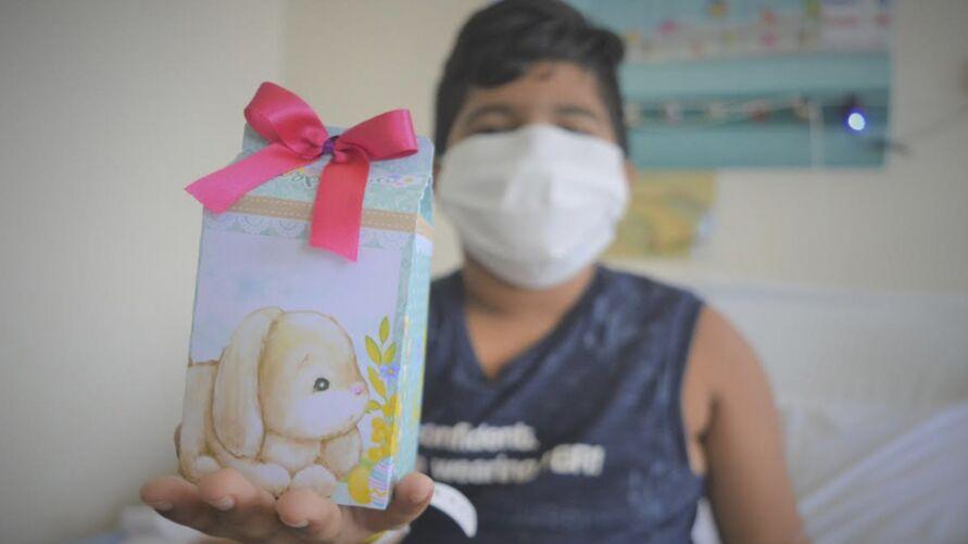 Imagem ilustrativa da notícia: Crianças internadas ganham presentes de Páscoa
