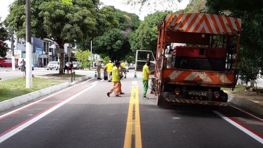 Imagem ilustrativa da notícia: Avenida Pedro Miranda é interditada para sinalização